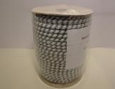 Elastik-reb 8 mm. 50 m. Hvid/Sort