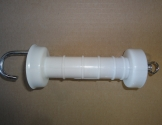 Plastledhåndtag hvid.