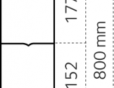 Dyrehegn 0,8 x 50 m. alu/zink